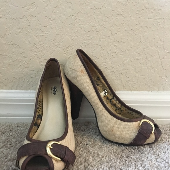 Mossimo Supply Co. Shoes - Tan and brown heels